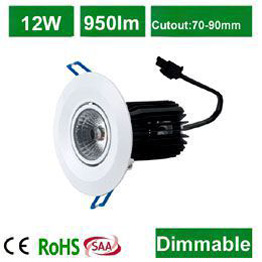 12W   LED Downlight COB LED