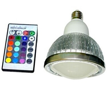 remote control 18w E27 led lamp rgb par38