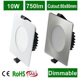 Square  SMD LED Downlight 10W